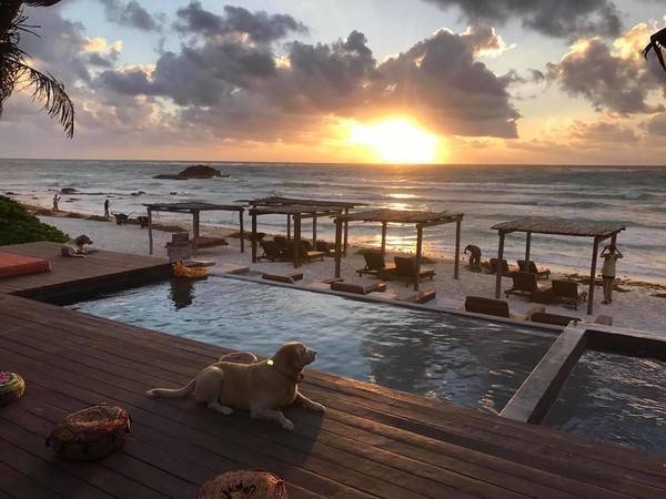 "Amansala resort. I did the ""Bikini Bootcamp"" here w/my friend Nina Simon"