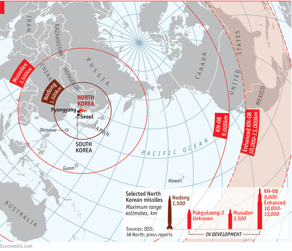 """Where can missiles from N. Korea reach?"" Such a good answer."