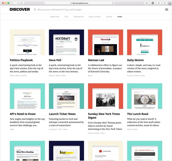 In our mission to reinvent the newsletter, Revue launches Discover