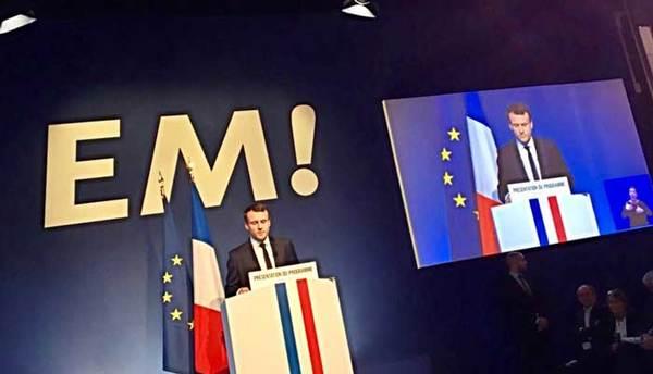 De presentatie van Macron gisteren