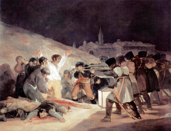'Assassinat politique' - Het doek 'Tres de Mayo' van Goya (1814)