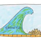 Exponential growth devours and corrupts