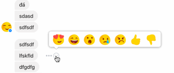 Facebook tests reactions and 👎 Dislike button in Messenger messages
