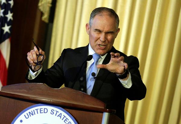 Directeur Scott Pruitt van het Environmental Protection Agency (foto: Reuters)