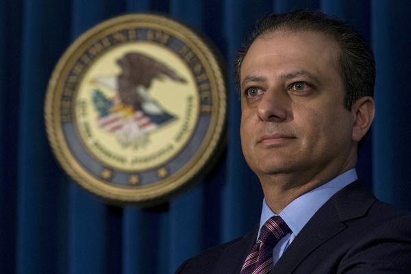 Trump ontstloeg de federale aanklager Preet Bharara dit weekend (foto: Reuters)