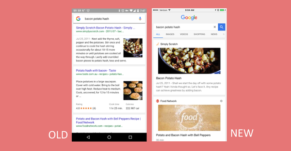 Tldr marketing 22 google fred update and api that can recognize google tests new recipes layout forumfinder Image collections