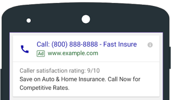 Account-level call extensions and more rolling out soon
