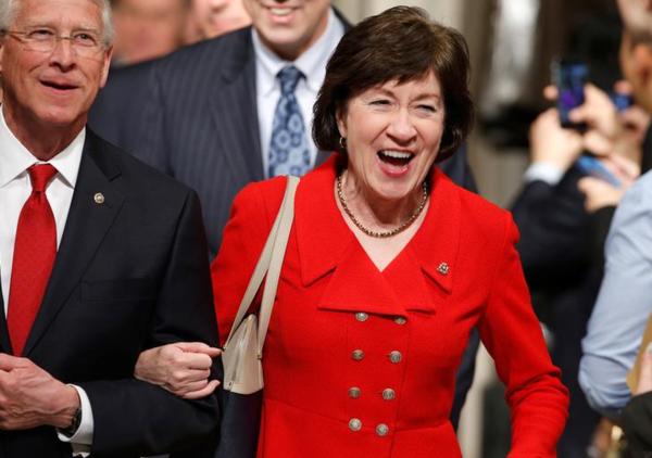 De Republikeinse senator Susan Collins heeft diepe twijfels over Ryans zorgwet (foto: Reuters)