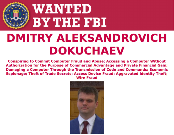 Een van de Russische FSB-spionnen die zijn aangeklaagd door Justitie (foto: FBI)