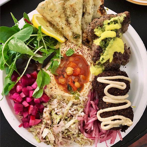 """Hummus & Falafel Plate"" by Dune (@thediningdolls)"