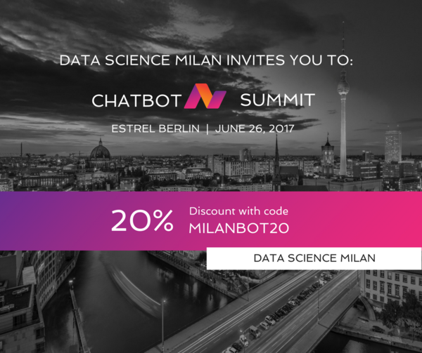 We are excited to invite you to the second international Chatbot Summit which will be held at the Estrel Berlin on June 26th 2017. The event is planned to be one of the most meaningful Chatbot events of the year, where attendees will have the opportunity to connect with fellow chatbot enthusiasts and learn more about how to leverage big data and machine learning to build more intelligent chatbots.
