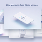 Free White Clay Apple Devices Mockups for Personal and Commercial projects