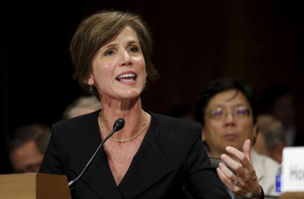 Trump ontsloeg vlak na de inauguratie interim-minister van Justitie Sally Yates (foto: Reuters)