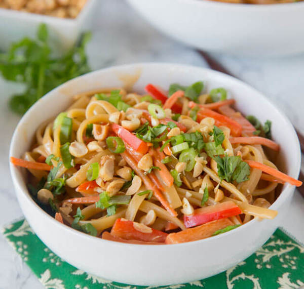 Thai Peanut Noodles - Dinners, Dishes, and Desserts