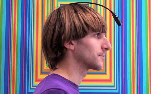 The world's first cyborg artist, Neil Harbisson, can 'hear color' (Dominique Sisley, Dazed)