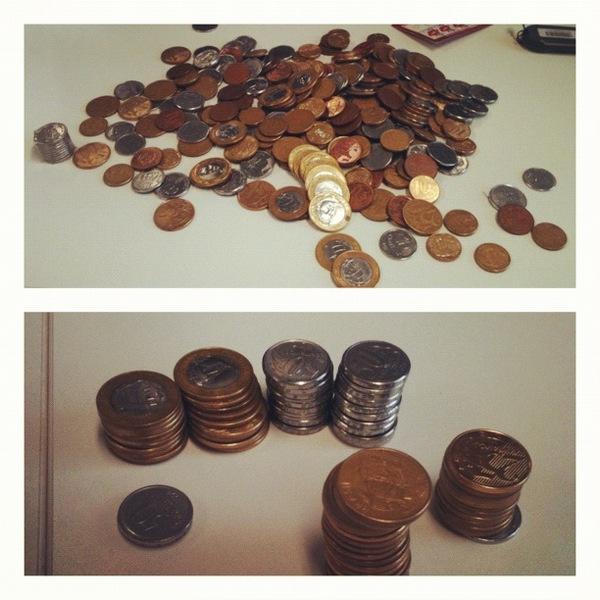 Acervo pessoal: nunca esqueça que moeda não é dinheiro.