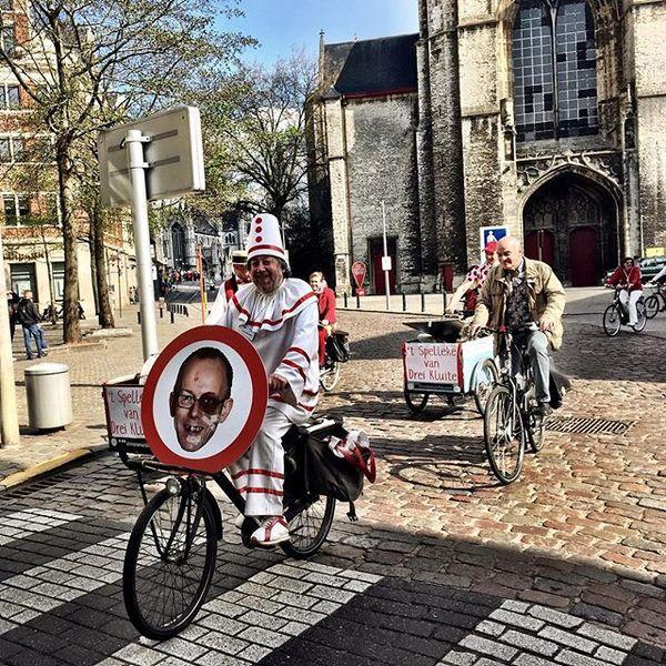 In Gent gebeurt zelfs het protest tégen het circulatieplan met de vélo.