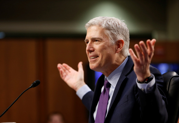 Neil Gorsuch, kandidaat-rechter voor het Supreme Court (foto: Reuters)