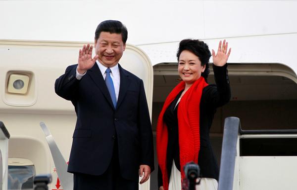 De Chinese president Xi Jinping en zijn echtgenote Peng Liyuan brengen later deze week een bezoek aan Amerika (foto: Reuters)