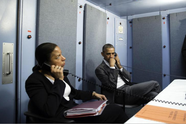 Susan Rice was de Nationale Veiligheidsadviseur van president Obama (foto: Reuters)