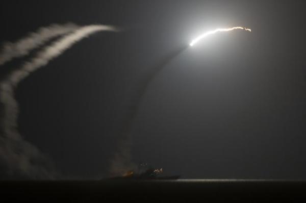 De lancering van een Amerikaanse Tomahawk-raket (foto: Reuters)