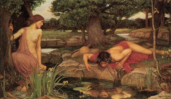 Even the Greeks took long nice, long looks at themselves, as depicted in 'Echo and Narcissus' (John William Waterhouse, 1903)