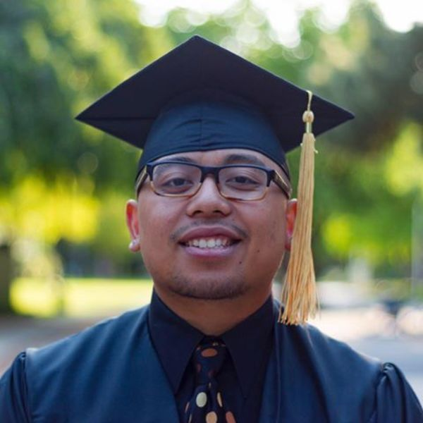 Another reason I miss teaching is seeing my former students graduate from college. Here is Ramir at Sacramento State.