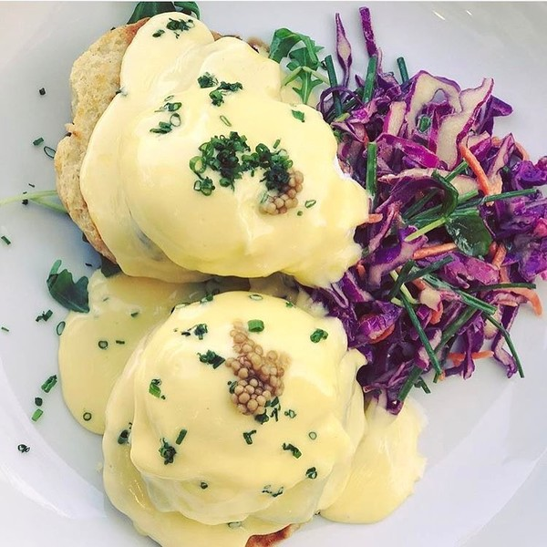 """Pork Belly Eggs Benedict"" by Claudine (@claudinekitchen)"