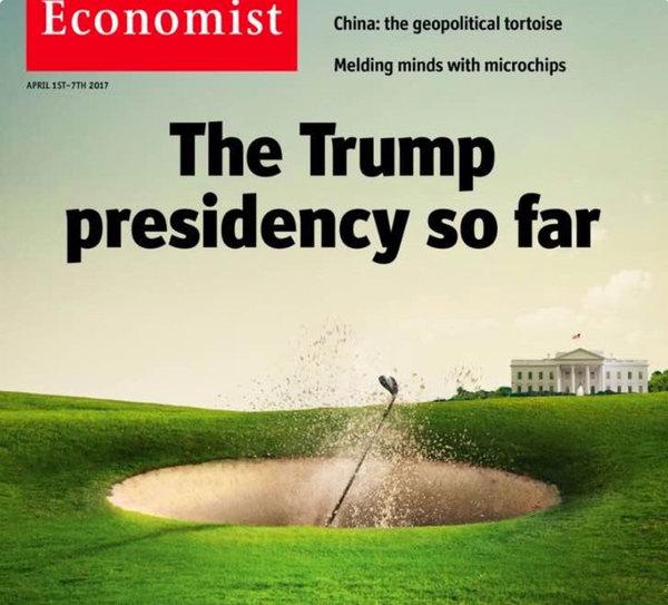 De voorpagina van The Economist