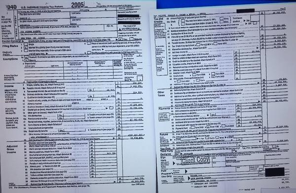 Vorige maand lekte Trumps belastingaangifte van 2005 naar buiten via MSNBC.