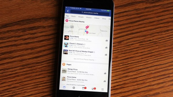 "Facebook's ""nearby"" search feature is being tested"