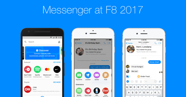 Facebook Messenger launches group bots and bot discovery tab