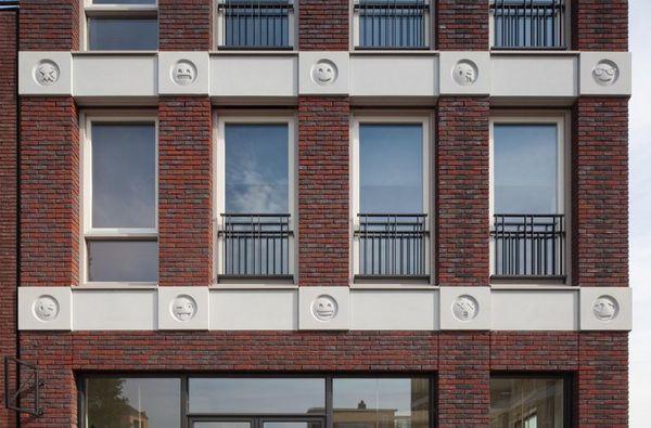 There are 22 emoji in total, all cast in concrete. Image: Attika Architekten / Bart van Hoek
