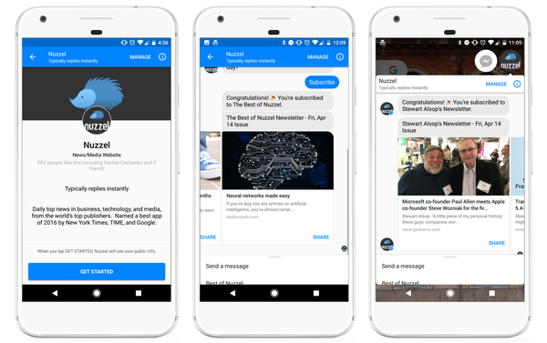 Nuzzel Brings Newsletters to 1.2 Billion Messenger Users