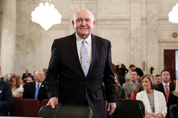 Sonny Perdue, de nieuwe minister van Landbouw (foto: Reuters)