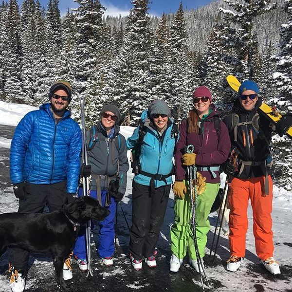 Friends and I skiing on April 30th. Colorado is rad.