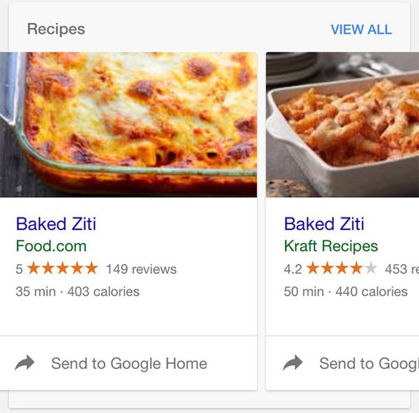 Send Recipe To Google Home