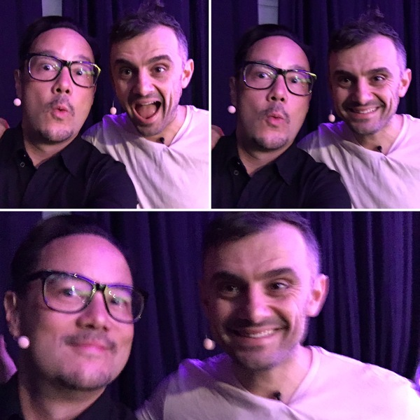 Casey ELL and Gary VEE backstage at Web Summit.