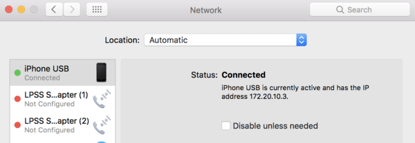 I was having trouble using tethering from my iPhone, but then discovered this box was ticked in my Network settings. And bang! Now it works :-)