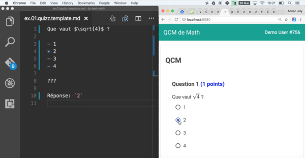 JS-Exam, a toolset I built to save hours evaluating and grading my students' code