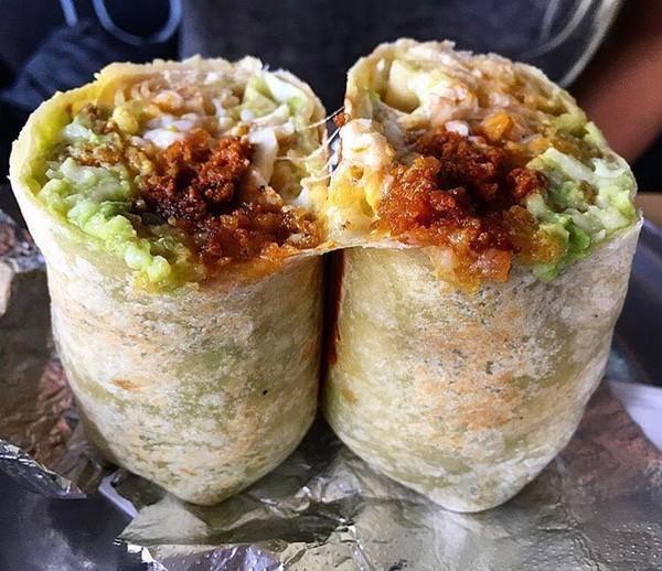 """Chorizo Breakfast Burrito"" by Tacos Tu Madre (@tacostumadre)"