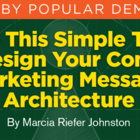 Fun Brand Message Architecture Tool: Use for Your Content Marketing Strategy