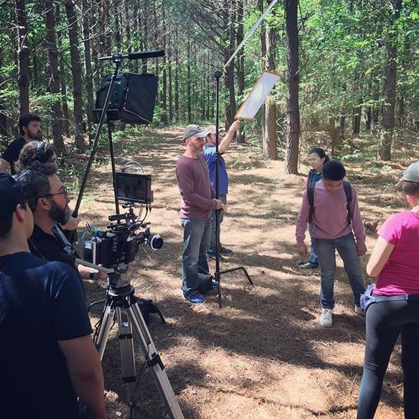 On location last weekend for day 3 of my short film Big and Tall