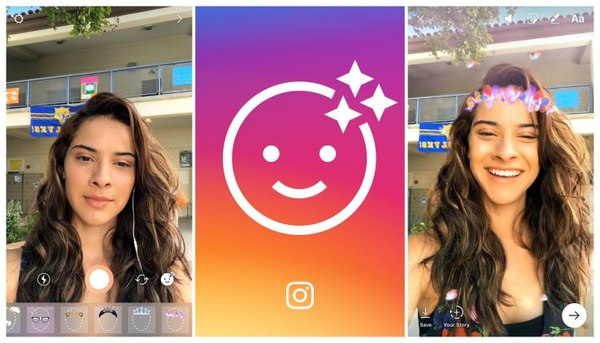 Instagram launches selfie filters, as seen on Snapchat