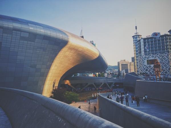"The gorgeous ""Dongdaemu Design Plaza"", designed by the late great Zaha Hadid."