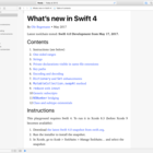Playground: What's New in Swift 4