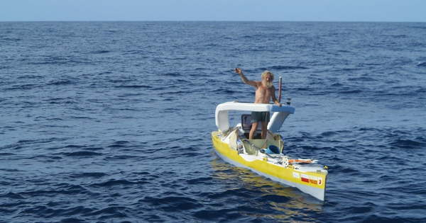 Meet the 70-year-old man who is crossing the Atlantic in a kayak