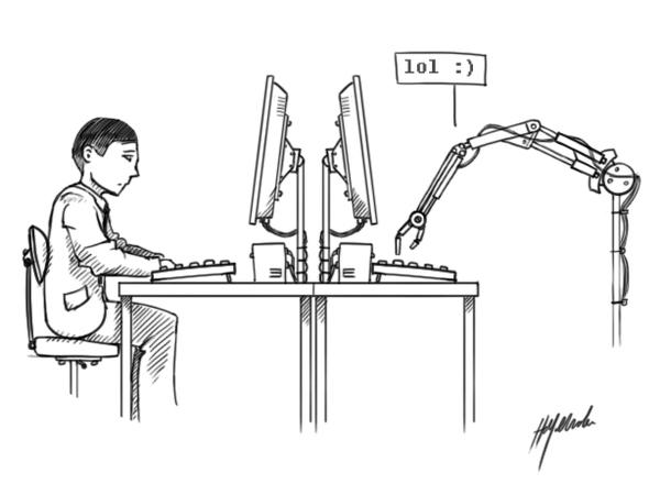 Turing-Test: Maar communiceert de machine nu als mens, of de mens als machine?