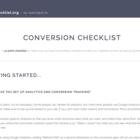 A 41 Point Conversion Checklist 🎯