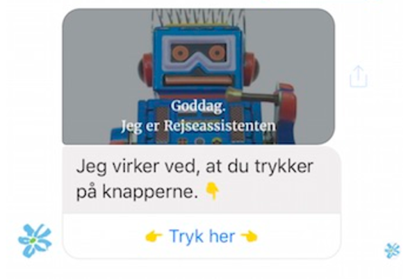 TopDanmark Travel Assistant bot is using BotSupply NLP engine
